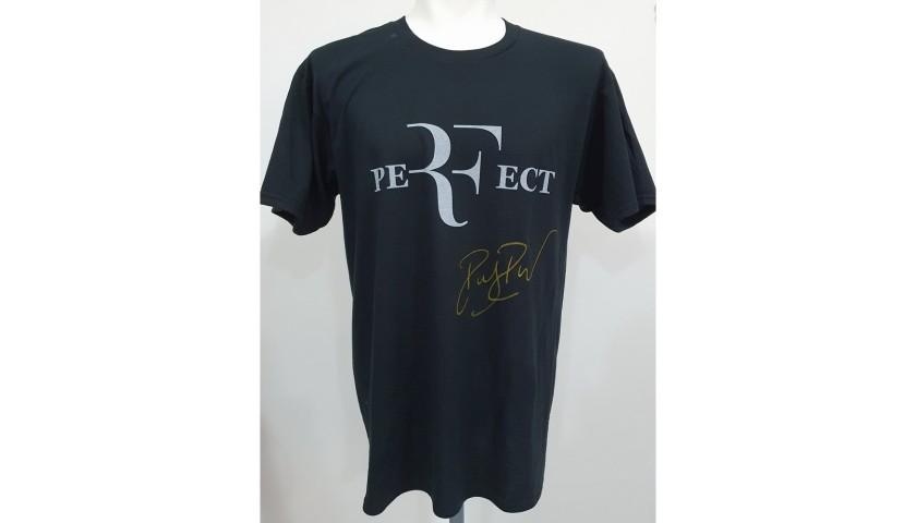 Roger Federer Official Signed T-Shirt