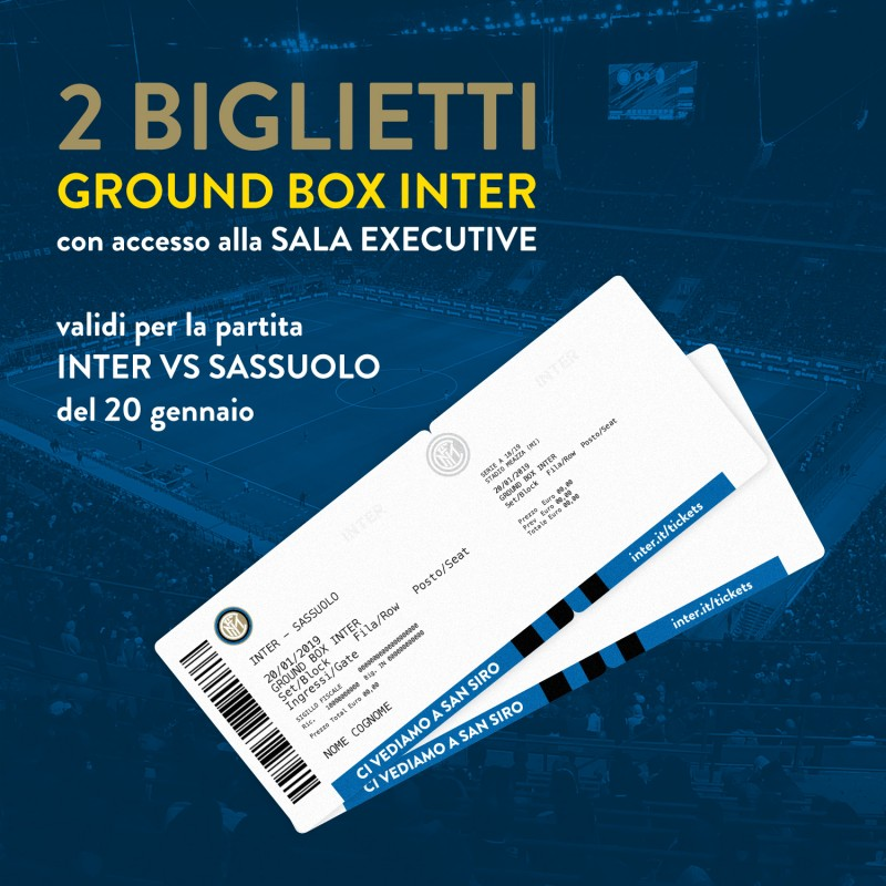 Enjoy the Inter-Sassuolo Match from Exclusive Ground Box Seats