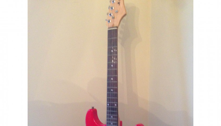 Guitar signed by all four members of the Rolling Stones