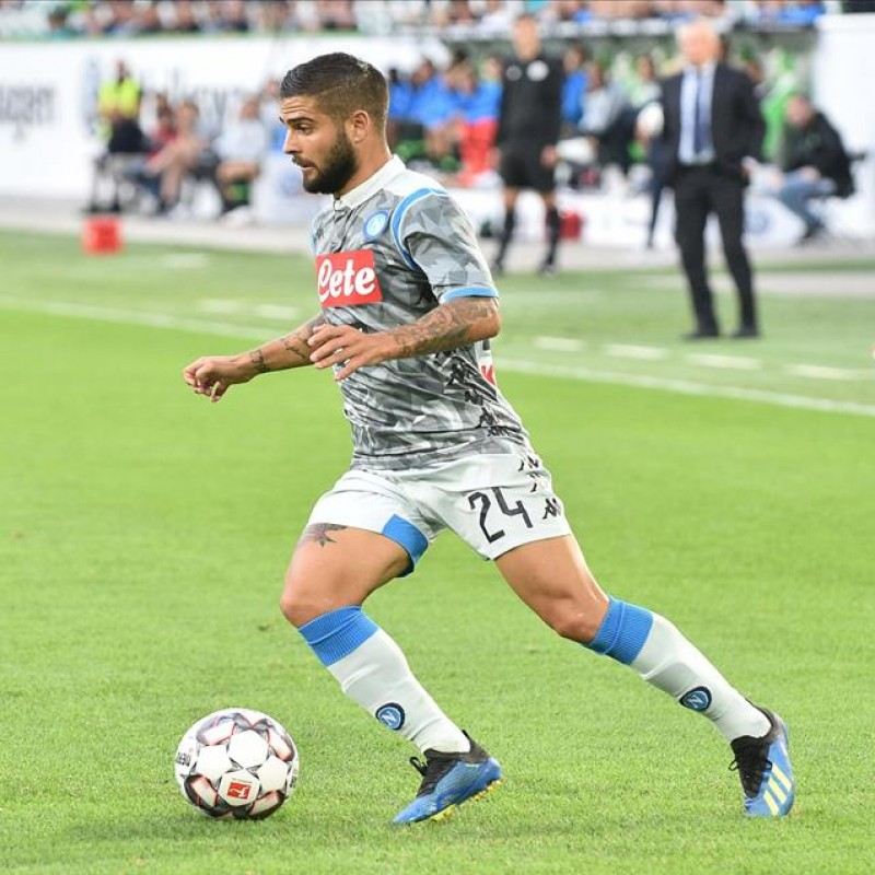Insigne's Official Napoli Shirt, 2018/19 - Signed by the Squad