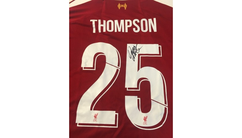 Thompson's Liverpool FC Legends Match Worn and Signed Shirt