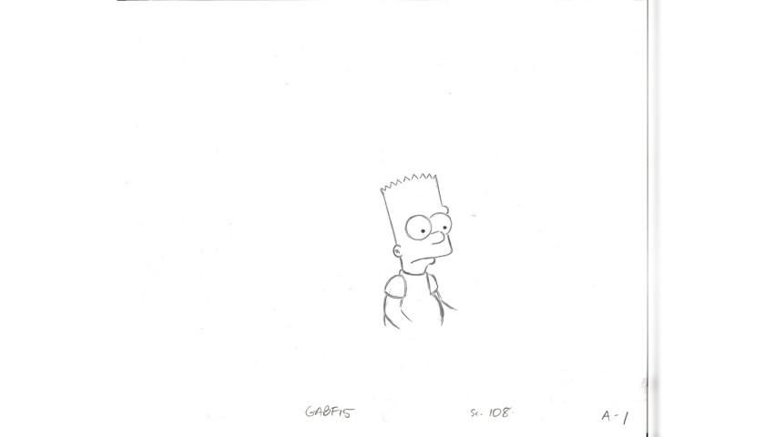 The Simpsons - Original Drawing of Bart Simpson