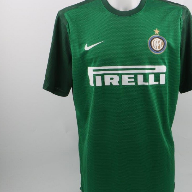 Handanovic shirt, issued/worn Serie A 2012/2013