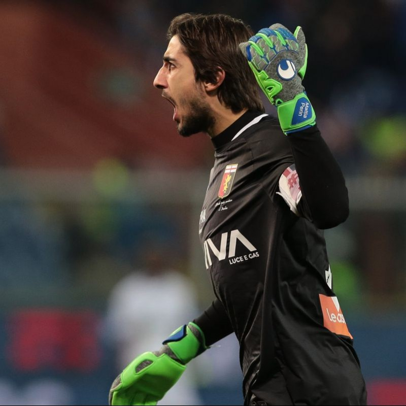 Uhlsport Gloves Worn by Perin, 2017/18 Serie A
