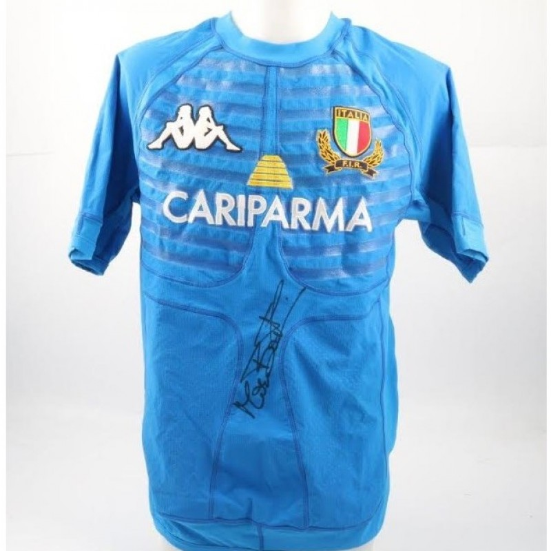 Italrugby Shirt Worn and Signed by Max Bortolami