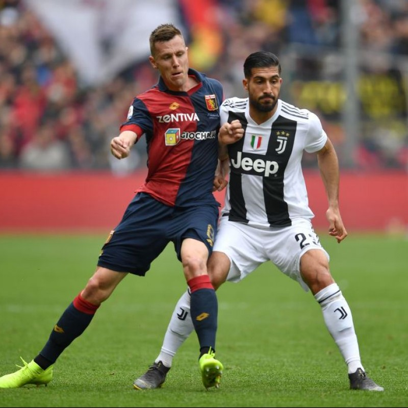 Shirt Worn by Lerager for the Genoa-Juventus Match