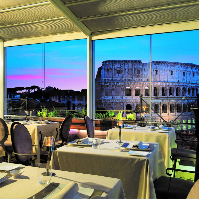 Dinner for Two at Aroma Luxury Restaurant in Rome