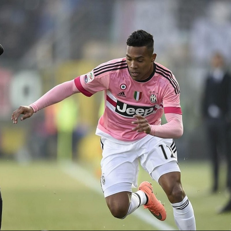 Alex Sandro's Official Juventus Signed Shirt, 2015/16
