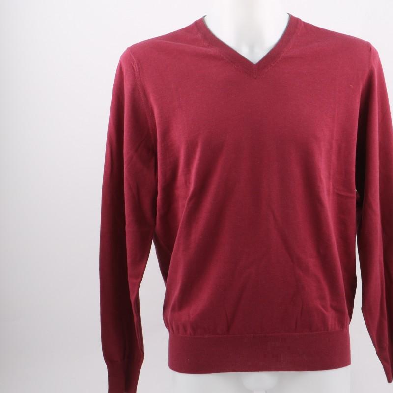 Brunello Cucinelli bordeaux sweater