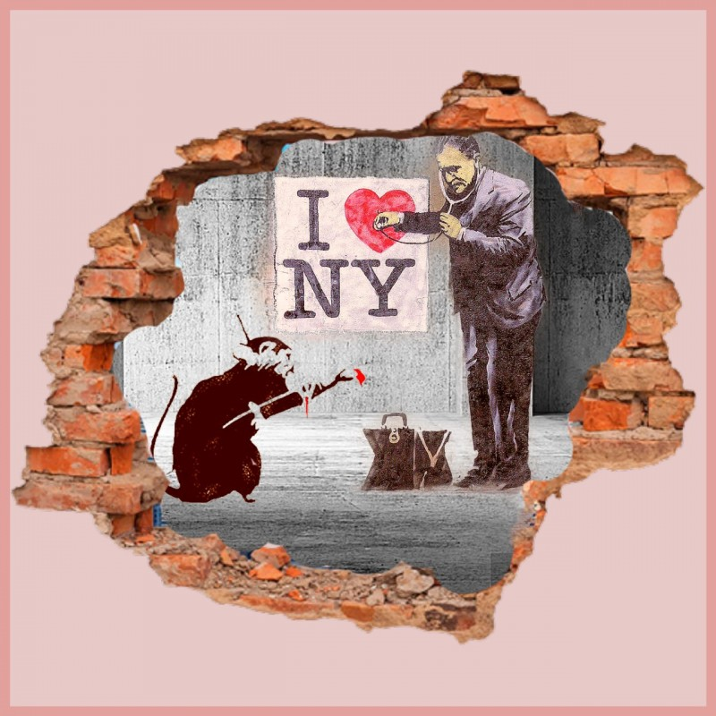 """The heart of New York vs Banksy"" by Mr Ogart"