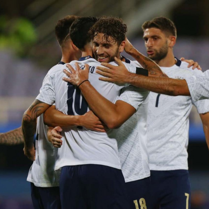 Locatelli's Match Shirt, Italy-Moldova 2020