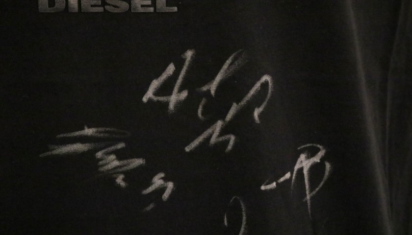 Diesel x AC Milan T-Shirt Signed by the Players -  Size L