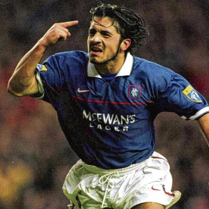Gattuso's Official Rangers Signed Shirt, 2006/07