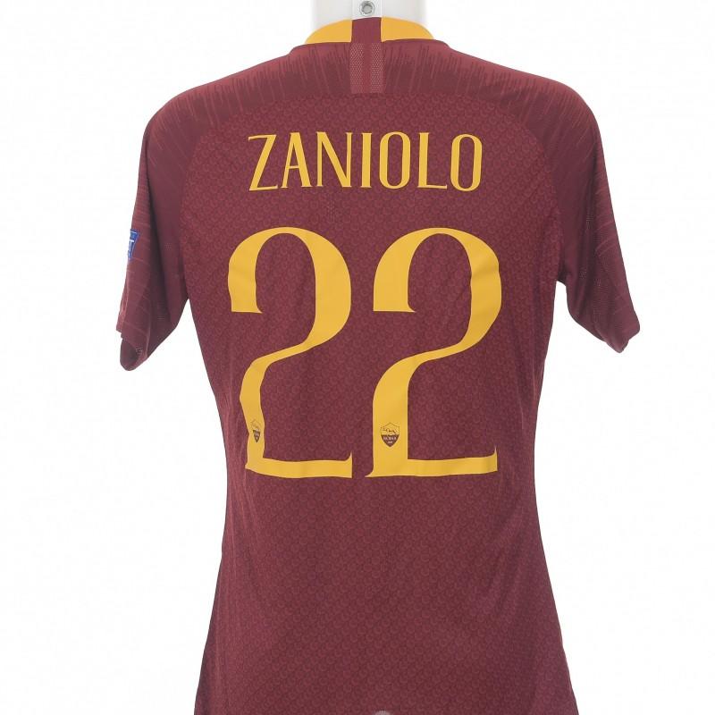 Maglia Zaniolo preparata Roma-CSKA CL 18/19