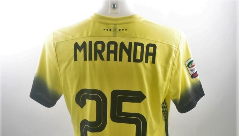 Miranda Inter shirt, issued/worn Serie A 2015/2016 - CharityStars
