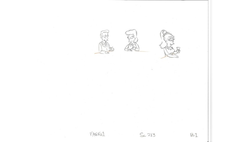 The Simpsons - Two Original Drawings from the Series