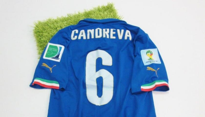 7966baaa9 Maglia Candreva Italia, preparata/indossata Mondiali Brasile 2014 -  CharityStars