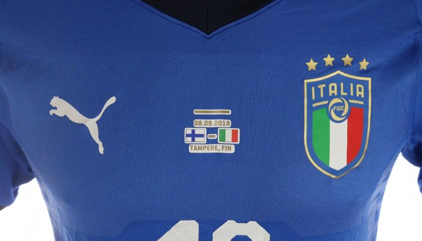 Barella's Match Shirt, Finland-Italy 2019