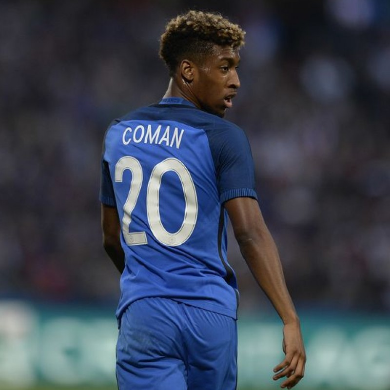 Coman's Official France Euro 2016 Signed Shirt