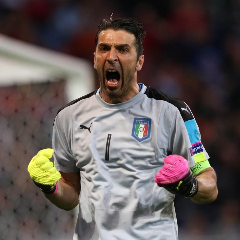 Buffon's Issued/Worn Shirt, Italy-Liechtenstein 2017