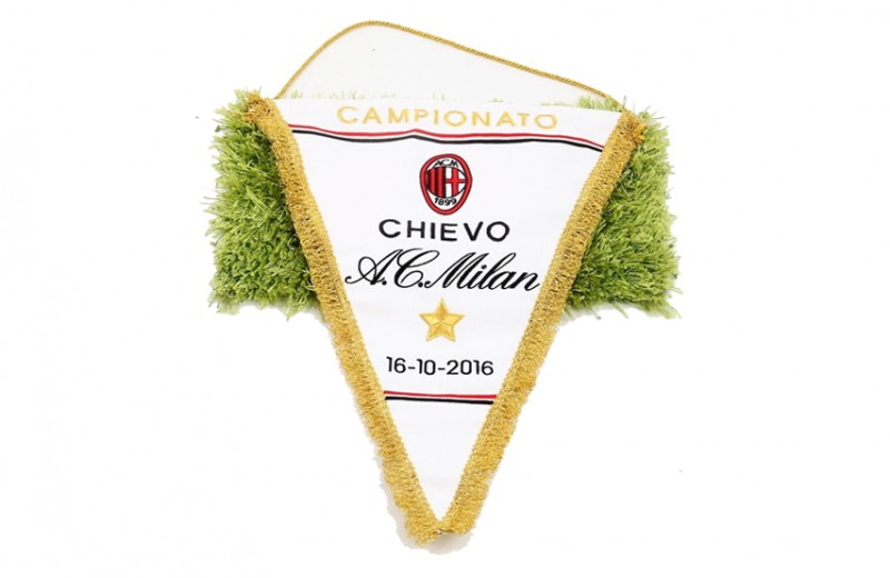 Official Serie A 2016/17 Season Pennant of the Chievo-Milan Match