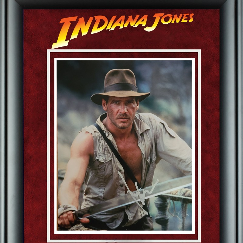 "Harrison Ford ""Indiana Jones"" Hand Signed, Custom Framed Photograph"