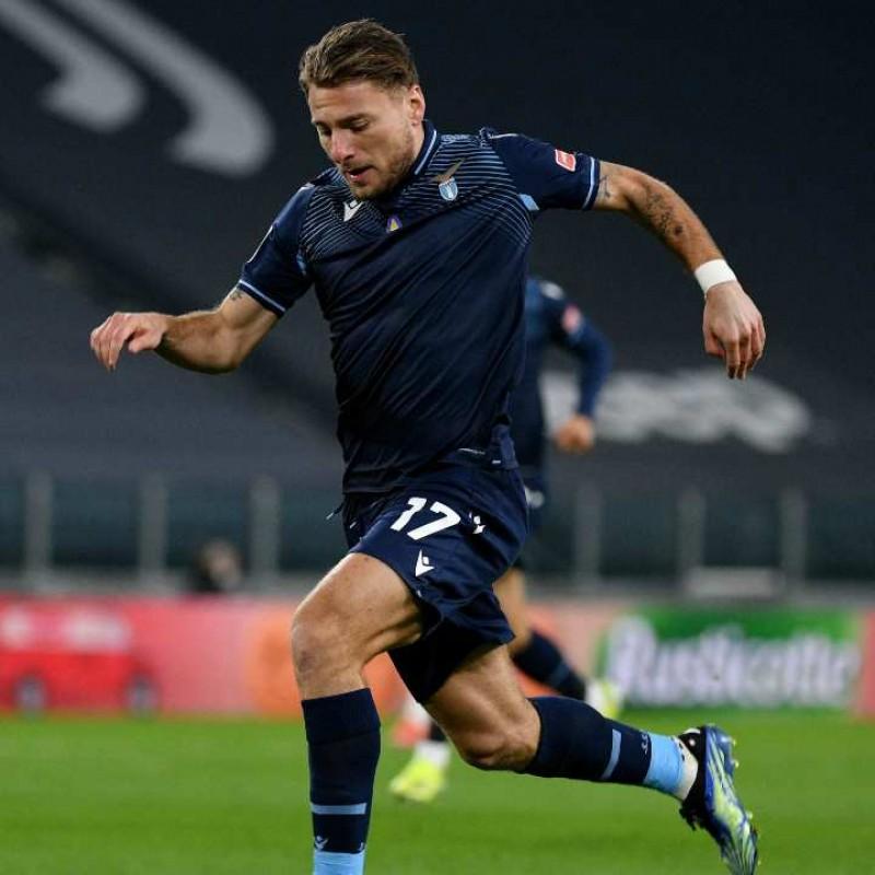 Immobile's Match Signed Shirt, Juventus-Lazio 2021
