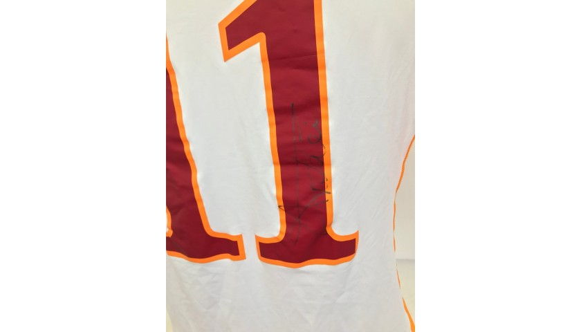 Taddei's Roma Signed Match Shirt, 2010/11