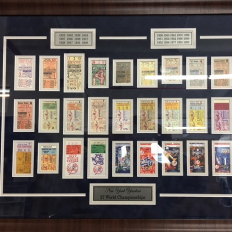 New York Yankees 27 Time World Series Championship Ticket Collection