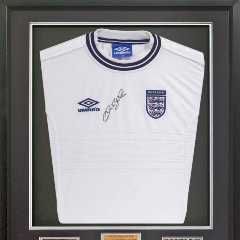 David Beckham OBE Hand Signed England Home Shirt