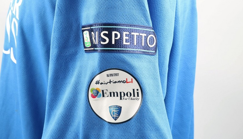 Polvani's Match-Worn Shirt from Empoli-Ascoli with a Special #AiutiamoLI Patch