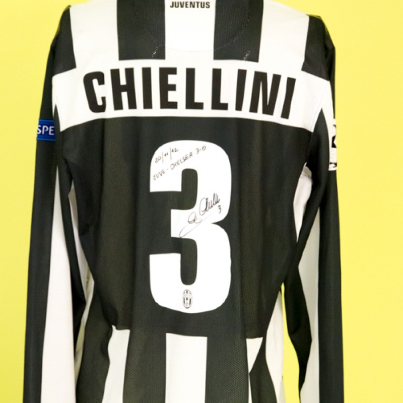 Juve - Chelsea 3-0 Champions League Jersey Autographed by Giorgio Chiellini