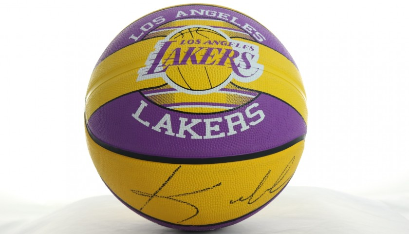 Official Spalding Basketball - Signed by Kobe Bryant and LeBron James