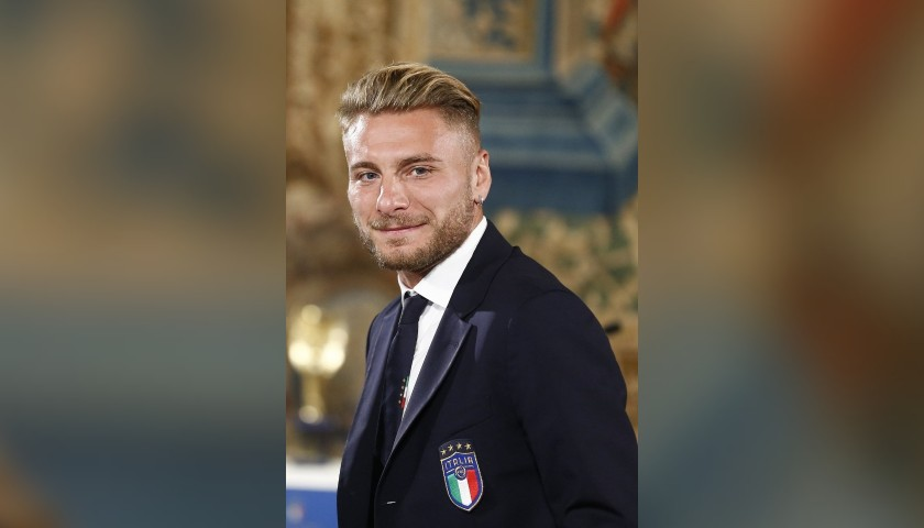 Italian National Football Team Trench Coat Worn by Ciro Immobile