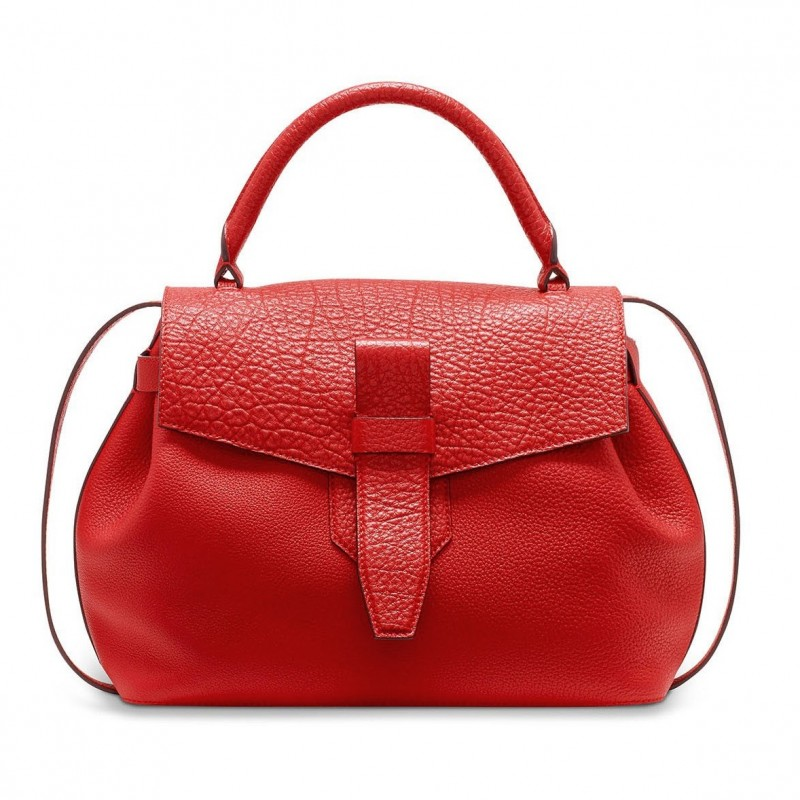 Lancel Buffalo Leather Handbag