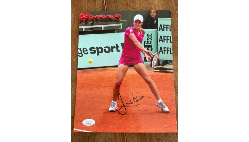 Justine Henin Signed Photo