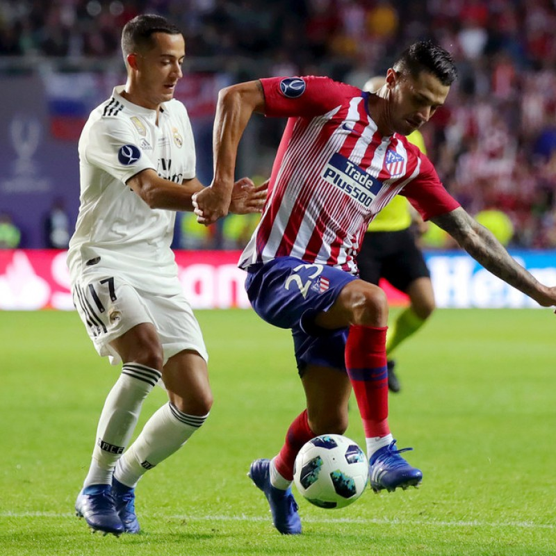 Vitolo's Atletico Madrid Match Shirt, UEFA Super Cup 2018
