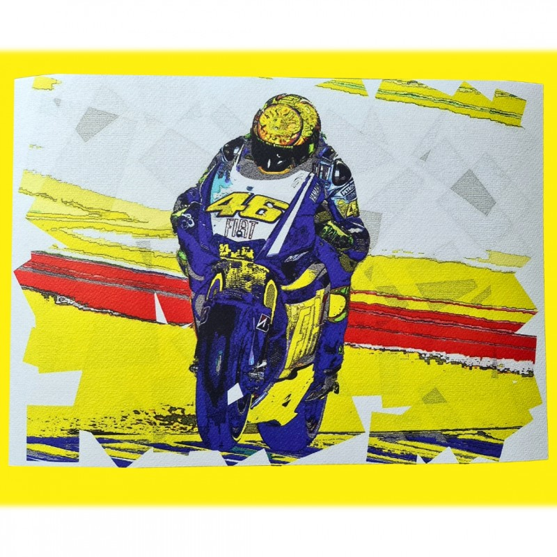 Valentino Rossi - Pop Artwork by Gabriele Salvatore