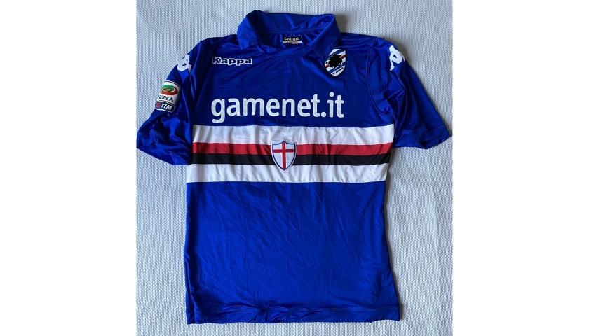 Gabbiadini's Worn Shirt, Sampdoria-Chievo 2014