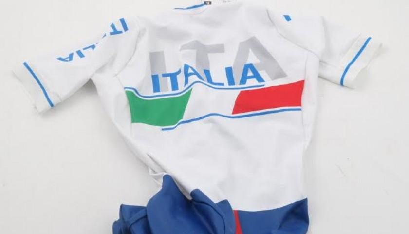 Vittorio Podestà worn suit, Italian para-cycling champion in Rio 2016, signed