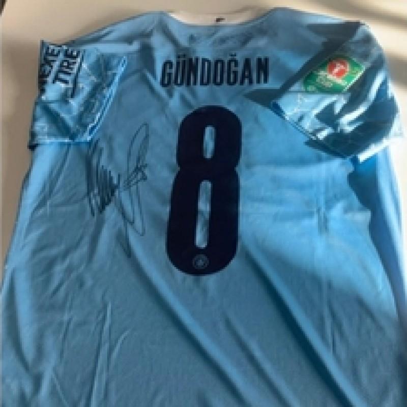 Original Ilkay Gündogan Match Worn and Signed Jersey vs. Manchester United