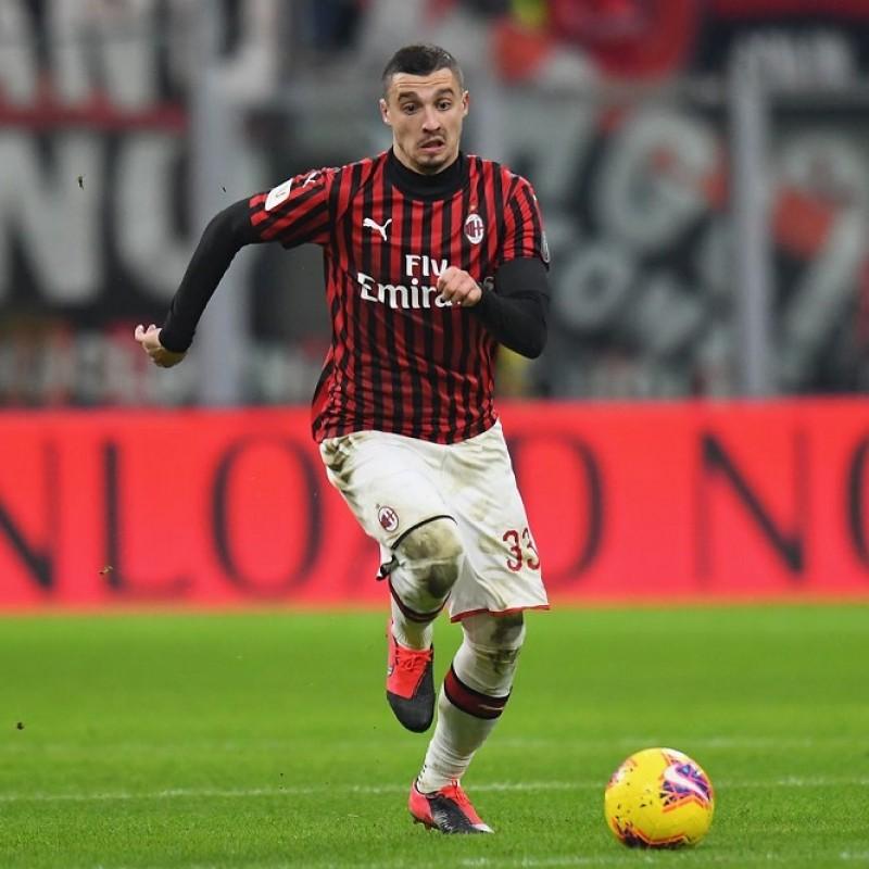 """""""Black Lives Matter"""" Training Shirt, Juventus-Milan - Signed by Krunic"""