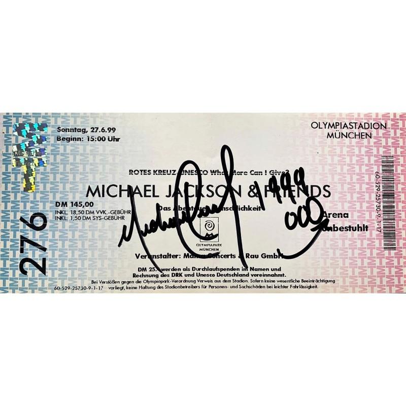 Michael Jackson Signed Concert Ticket, 1999