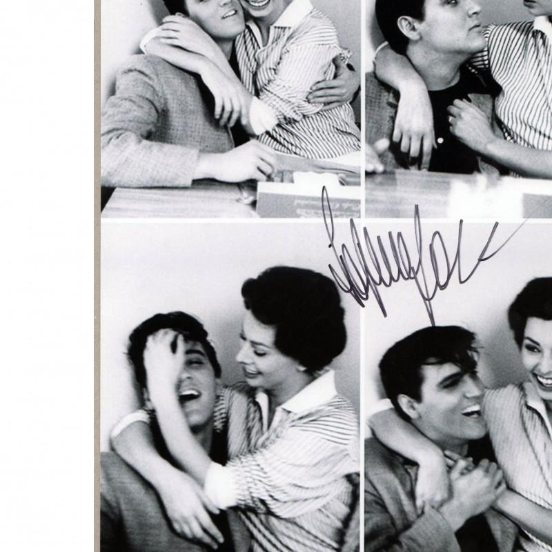 Sophia Lauren signed collage
