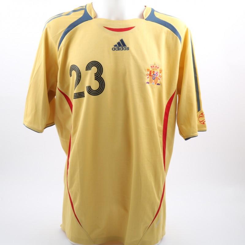 Reina's Spain Match-Issue World Cup 2006 Shirt