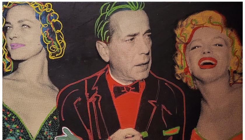 """""""Lauren Bacall, Humphrey Bogart, Marilyn Monroe"""" by Steve Kaufman"""