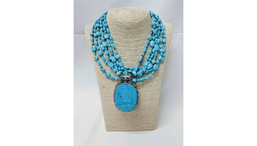 Turquoise Pendant Necklace from Jennifer Lynn Jewelry Design