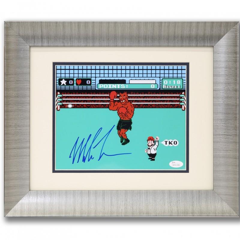 Iron Mike Tyson Signed Nintendo Punchout Print