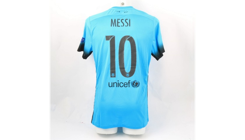 Messi's Barcelona Match-Issue/Worn Shirt, UCL 2015/16