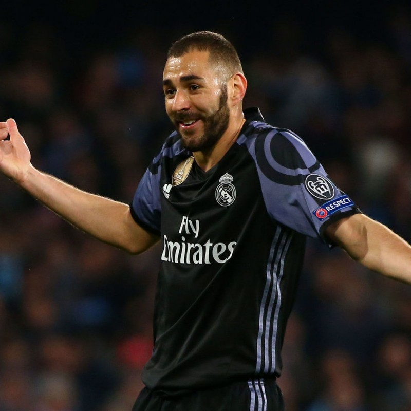 Benzema's Match-Issued/Worn Real Madrid Shirt, 2016/17 UCL